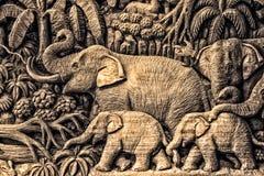 Talla del elefante Fotografía de archivo