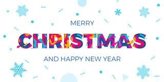 Talla del papercut del vector del fondo de los copos de nieve de la tarjeta de felicitación de la Feliz Año Nuevo de la Feliz Nav ilustración del vector