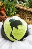 Talla el melón Fotografía de archivo