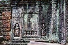 Talla en el templo del som de TA Imagen de archivo libre de regalías