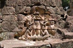 Talla en el templo del som de TA Imágenes de archivo libres de regalías