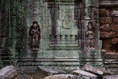 Talla en el templo del som de TA Imagen de archivo