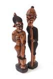 Talla gambiana de madera. Imagenes de archivo