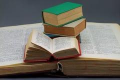 Talla grande, pequeños diccionarios de las tallas. Imagen de archivo libre de regalías
