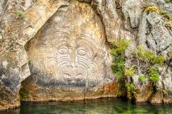 Talla maorí de la roca Imagen de archivo