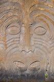 Talla maorí de la roca Fotos de archivo