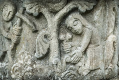 Talla medieval de la piedra Imagen de archivo