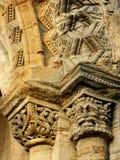 Talla normanda de la puerta Imagen de archivo libre de regalías