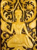Talla tailandesa de madera Foto de archivo