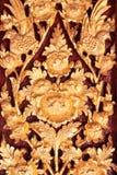 Talla tailandesa de madera Imagen de archivo libre de regalías