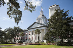 Tallahassee Florida State Capitol buildings Florida USA. Modern offices are at the rear Stock Image