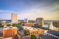 Tallahassee Florida, USA horisont Royaltyfri Fotografi