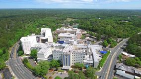 Tallahassee medical center 4k aerial video stock footage