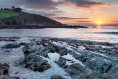Talland Bay in Cornwall Royalty Free Stock Photography