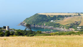 Talland Bay between Looe and Polperro Cornwall England UK Royalty Free Stock Images