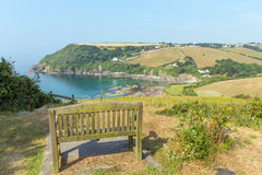 Talland Bay between Looe and Polperro Cornwall England UK Royalty Free Stock Image