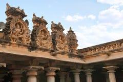 Tallando en el complejo del templo de la colina de Chandragiri, Sravanabelgola, Karnataka Fotografía de archivo