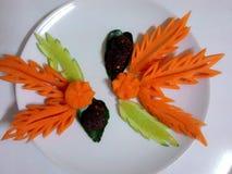 Tallando la exhibición de la zanahoria thaicarving talle Fotos de archivo libres de regalías