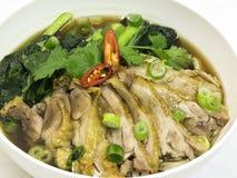 Tallarines asados Asia del pato Foto de archivo libre de regalías