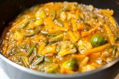 Tallarines asiáticos con las verduras Fotos de archivo libres de regalías