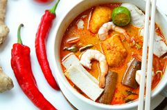 Tallarines calientes del curry Fotos de archivo libres de regalías