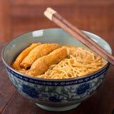 Tallarines calientes y picantes de Laksa del curry Imagen de archivo libre de regalías