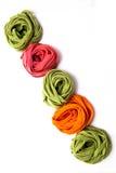 Tallarines coloridos Fotografía de archivo libre de regalías
