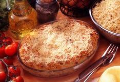 Tallarines con queso Fotografía de archivo