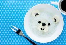 Tallarines de arroz de blanco del oso polar Imagenes de archivo