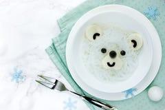 Tallarines de arroz de blanco del oso polar Imagen de archivo libre de regalías