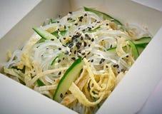 Tallarines de arroz chinos. Fotografía de archivo libre de regalías