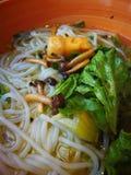 Tallarines de arroz chinos fotos de archivo