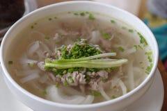 Tallarines de arroz de Vietnam Pho BO Fotografía de archivo