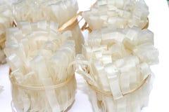 Tallarines de arroz vietnamitas el cocinar usado Imagen de archivo