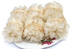 Tallarines de arroz vietnamitas el cocinar usado Imágenes de archivo libres de regalías