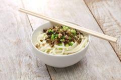 Tallarines de Dan dan, cocina de Sichuan del chino fotografía de archivo libre de regalías