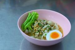 Tallarines de la pasta de pescados de Sukhothai Sukhothai del senpla de Kuaitiao Fotos de archivo