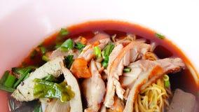 Tallarines de la sopa con el pato Foto de archivo