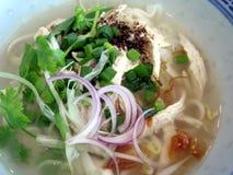 Tallarines de la sopa de pollo Imagen de archivo