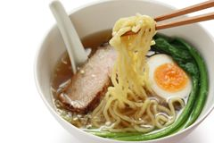 Tallarines de Ramen, alimento japonés Foto de archivo