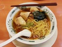 Tallarines de ramen japoneses, comida de Japón Fotos de archivo