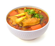 Tallarines del curry Fotografía de archivo libre de regalías