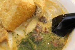 Tallarines del curry de Malasia Imagenes de archivo
