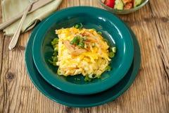 Tallarines del queso de los macarrones o de huevo del spatzle fotografía de archivo libre de regalías
