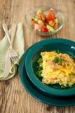 Tallarines del queso de los macarrones o de huevo del spatzle Imagen de archivo
