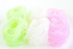 Tallarines dulces en jarabe de la leche de coco Fotografía de archivo libre de regalías