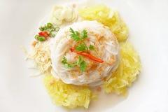 Tallarines fermentados de la harina de arroz Fotografía de archivo