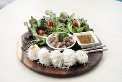 Tallarines fermentados de la harina de arroz Imagen de archivo