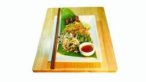 Tallarines fritos tailandeses fotos de archivo libres de regalías