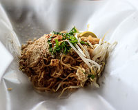 Tallarines fritos Tailandia Foto de archivo